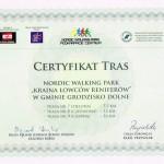 Certyfikat Grodzisko Dolne