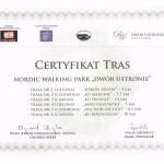 Certyfikat Tras-Ustronie